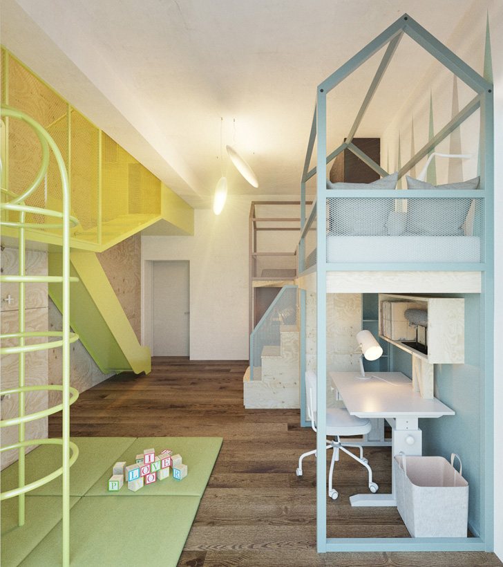 habitacion-infantil-de-diseño-zona-de-juegos