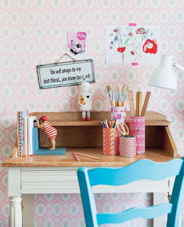 Escritorios infantiles 24 ideas y fotos inspiradoras - Ideas para decorar un estudio ...
