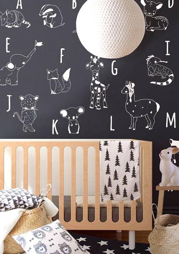 habitacion-bebe-paredes-papel-pintado