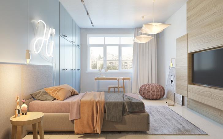 habitacion-de-diseño-con-cartel-luminoso