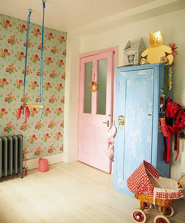 habitacion-infantil-con-columpio-vintage