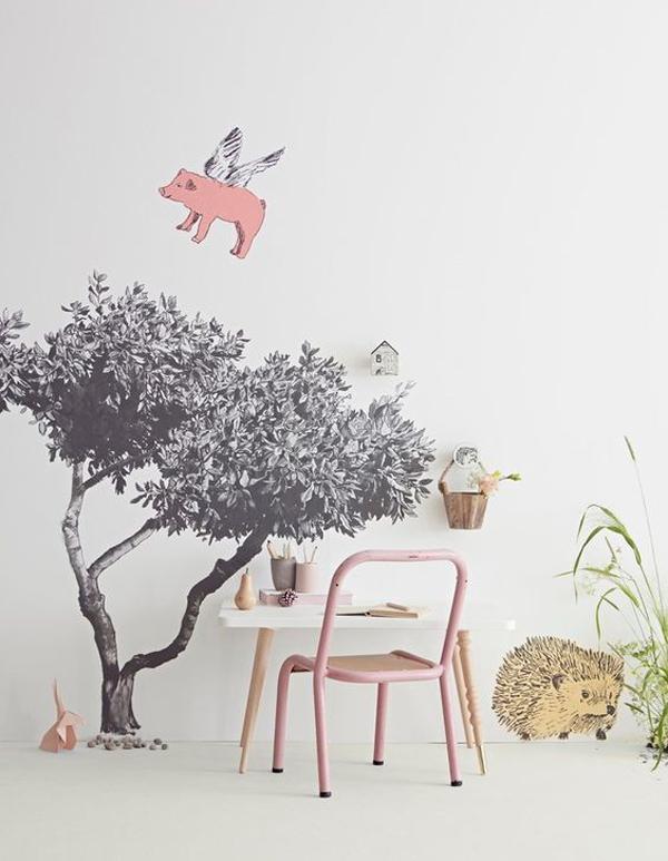 habitacion-infantil-con-papel-pintado-divertido