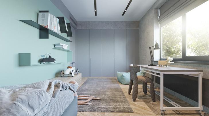 habitacion-infantil-de-diseño-en-azul