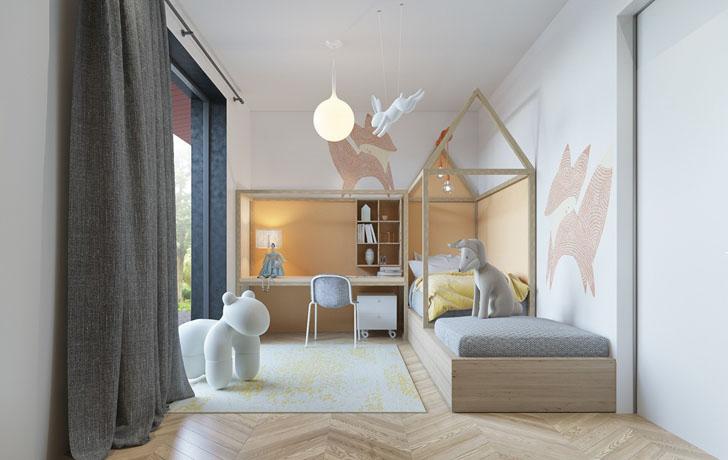habitacion-infantil-de-diseno-inspirada-en-animales