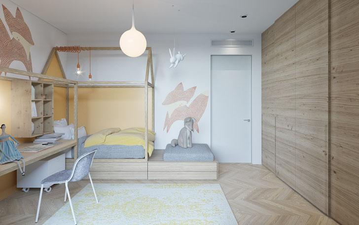 habitacion-infantil-diseno-inspirada-en-el-bosque
