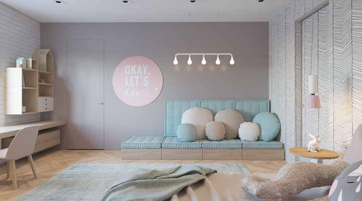 habitacion-infantil-diseño-tonos-pastel