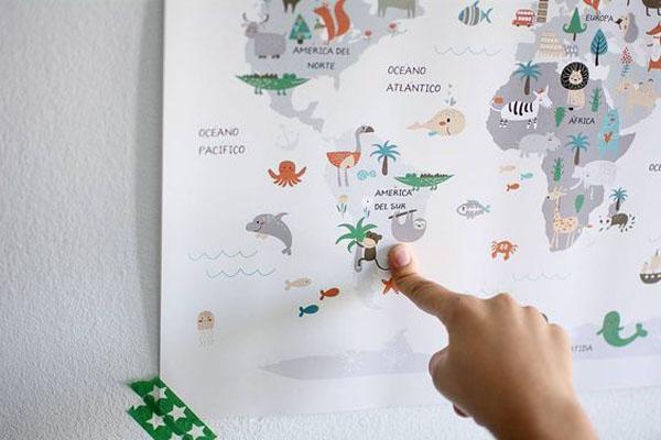 laminas-infantiles-educativas-menudos-cuadros-mapa