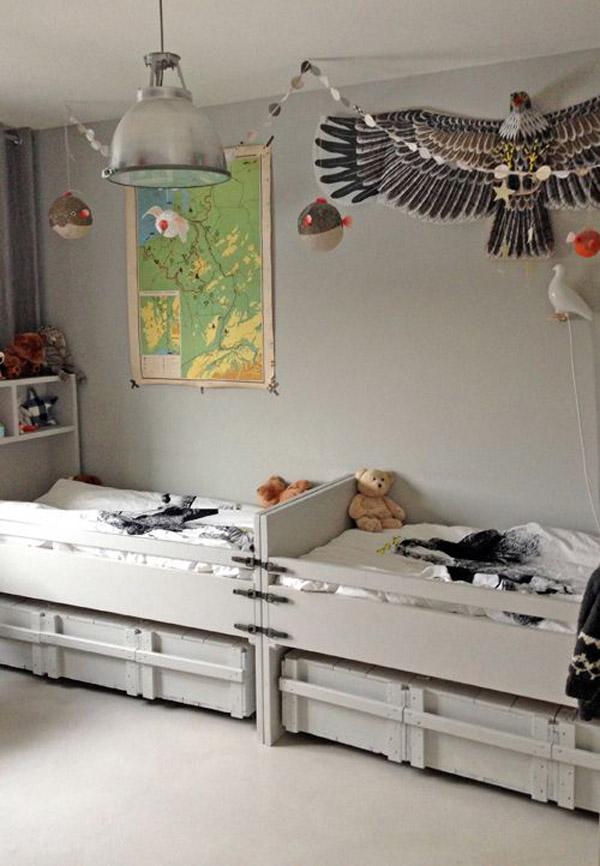 laminas-infantiles-vintage-cuarto-infantil-gris