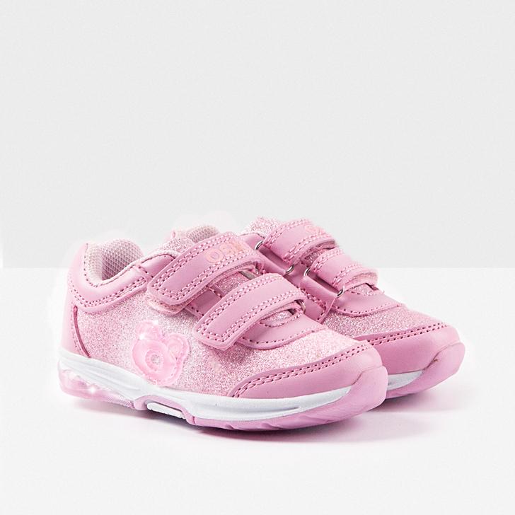 deportivos-infantiles-con-luz-conguitos-rosa-brillo