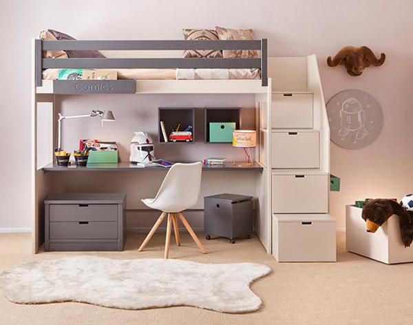escritorio-cama-infantil-multifuncional