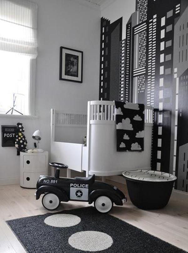 habitacion-bebe-blanco-y-negro-cuna-nordica