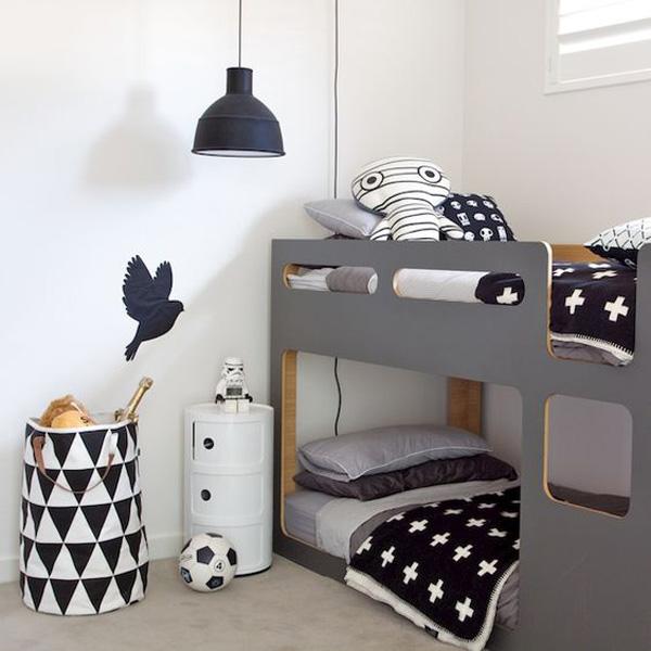 habitacion-infantil-blanco-y-negro-litera