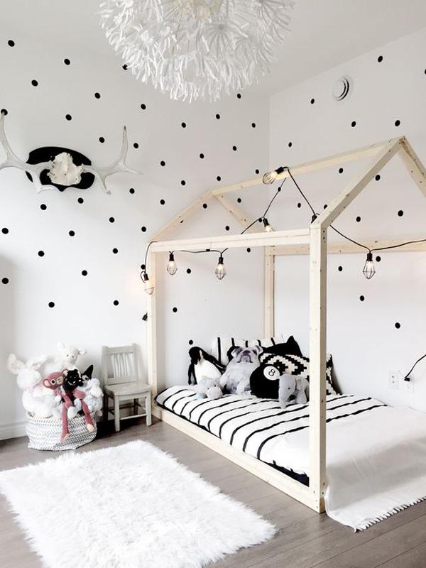 20 habitaciones infantiles en blanco y negro decopeques - Habitaciones infantiles en blanco ...
