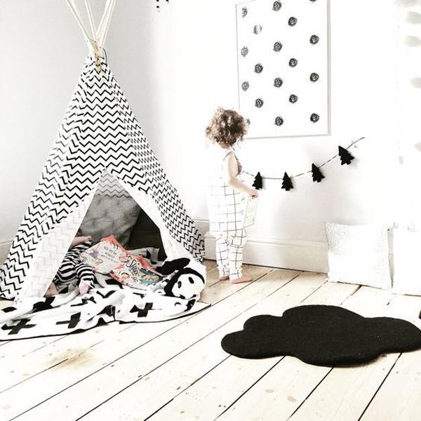 habitaciones-infantiles-blanco-y-negro-tipi