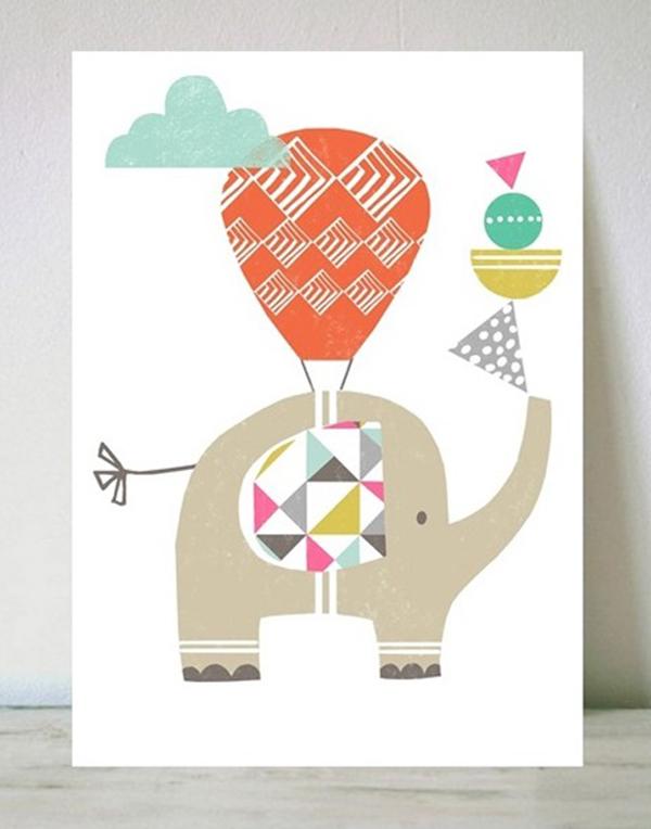 lamina-infantil-elefante