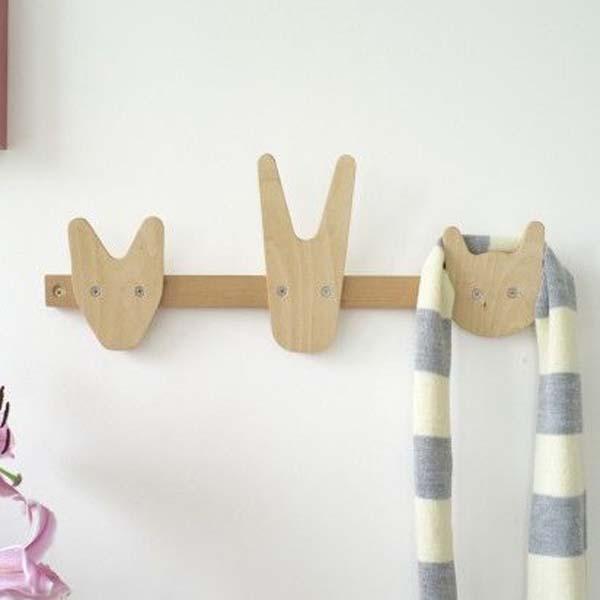 20 percheros para ni os accesorios divertidos decopeques - Perchero pared infantil ...