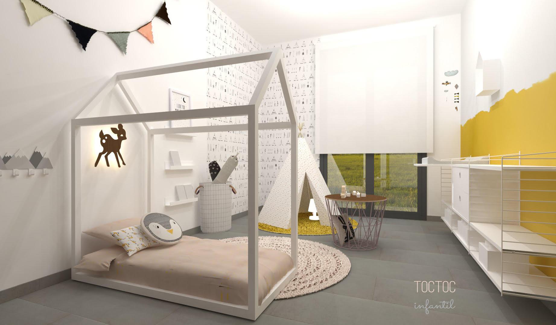Toc toc infantil decopeques for Decoracion habitacion infantil montessori