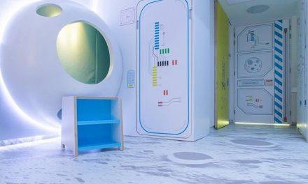 Cuando un hospital infantil se convierte en una estación lunar