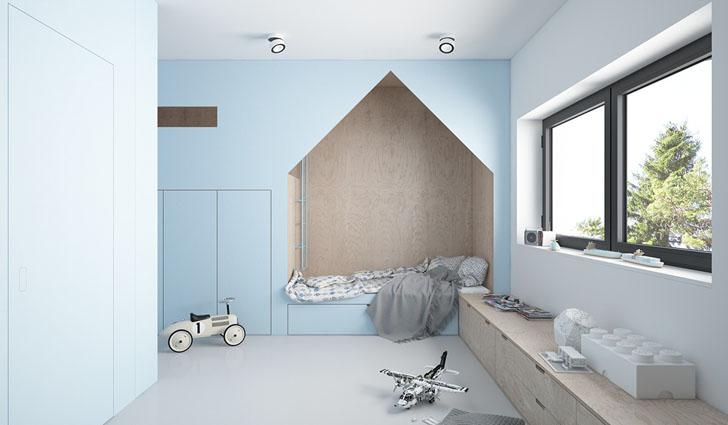 Habitación infantil de diseño en azul | DecoPeques