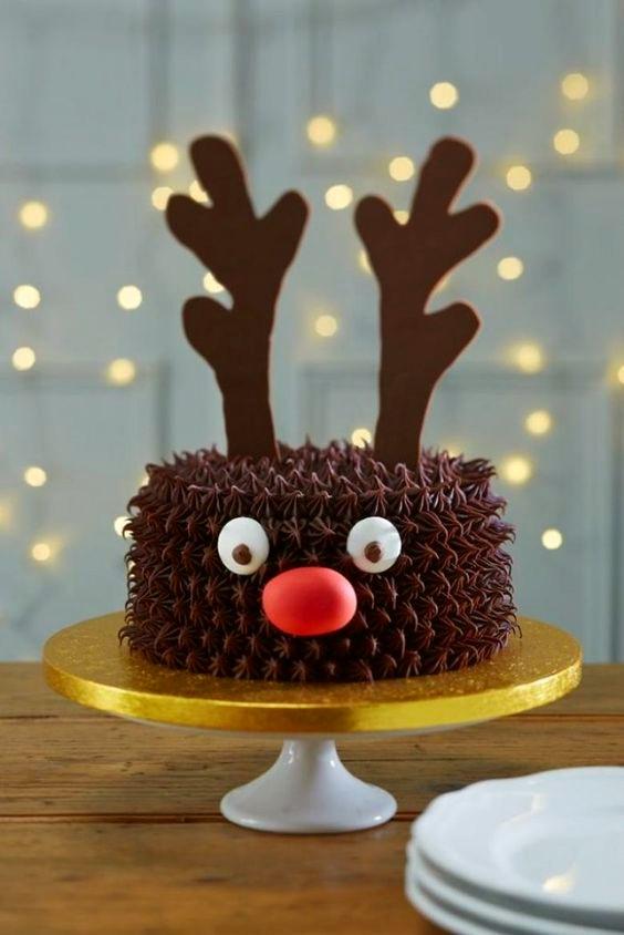 tarta-infantil-de-navidad-decoracion-reno