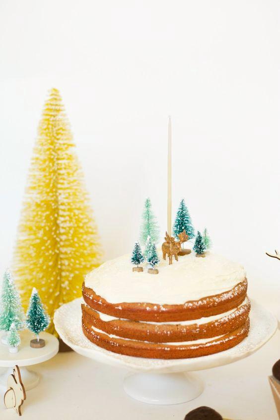 tarta-infantil-paisaje-de-navidad