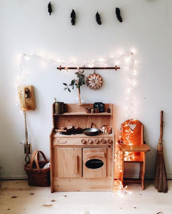 cocina-madera-vintage