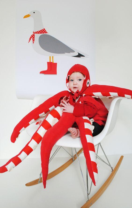 disfraz bebe pulpo