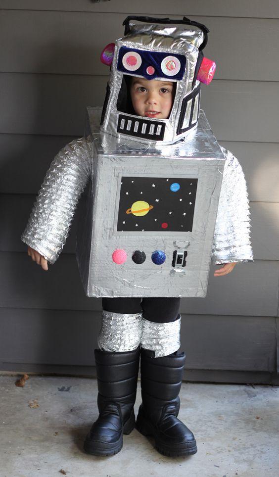 disfraz casero infantil robot