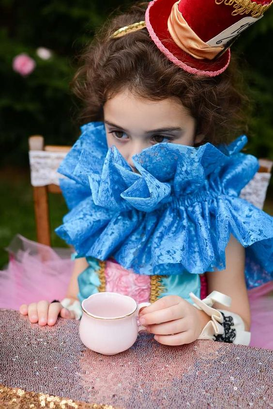 disfraz infantil alicia tea party