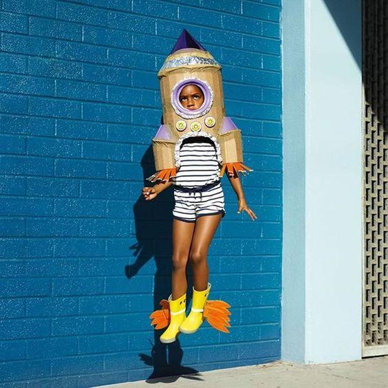 disfraz infantil cohete espacial