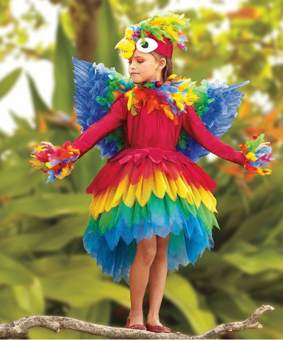 disfraz infantil pajaro exotico niña