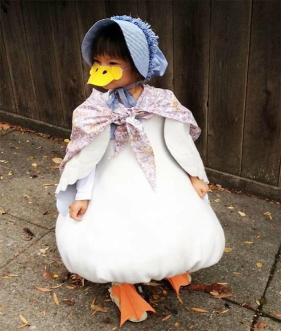 disfraz infantil pato