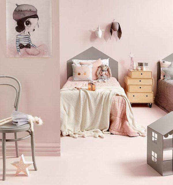 Cómo decorar habitaciones infantiles en color rosa- 6 ideas
