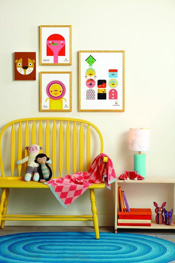 6 habitaciones infantiles a todo color decopeques - Muebles pintados de colores ...