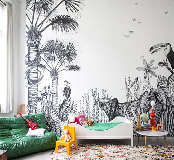 habitacion-infantil-mural-selva
