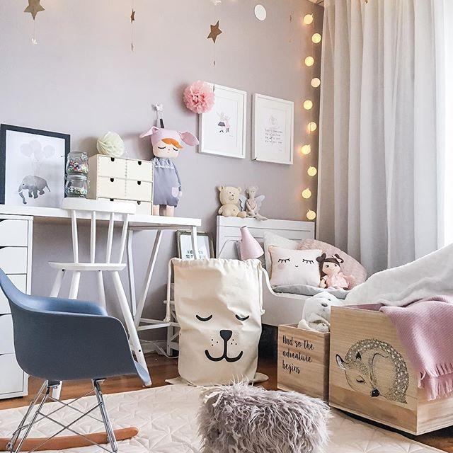 habitacion-infantil-nordica-cama-madera