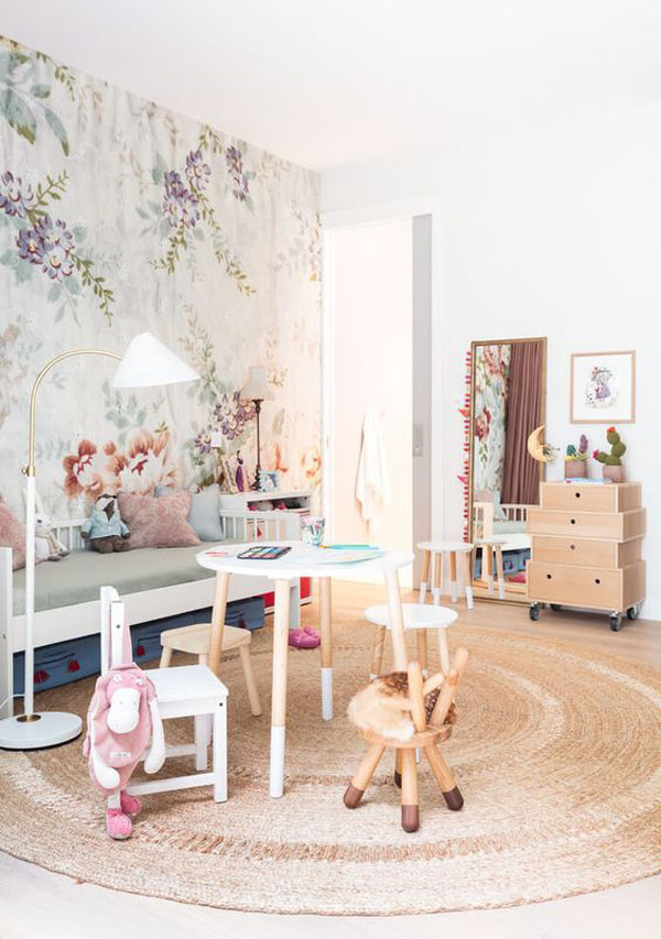 habitacion-infantil-papel-pintado-flores