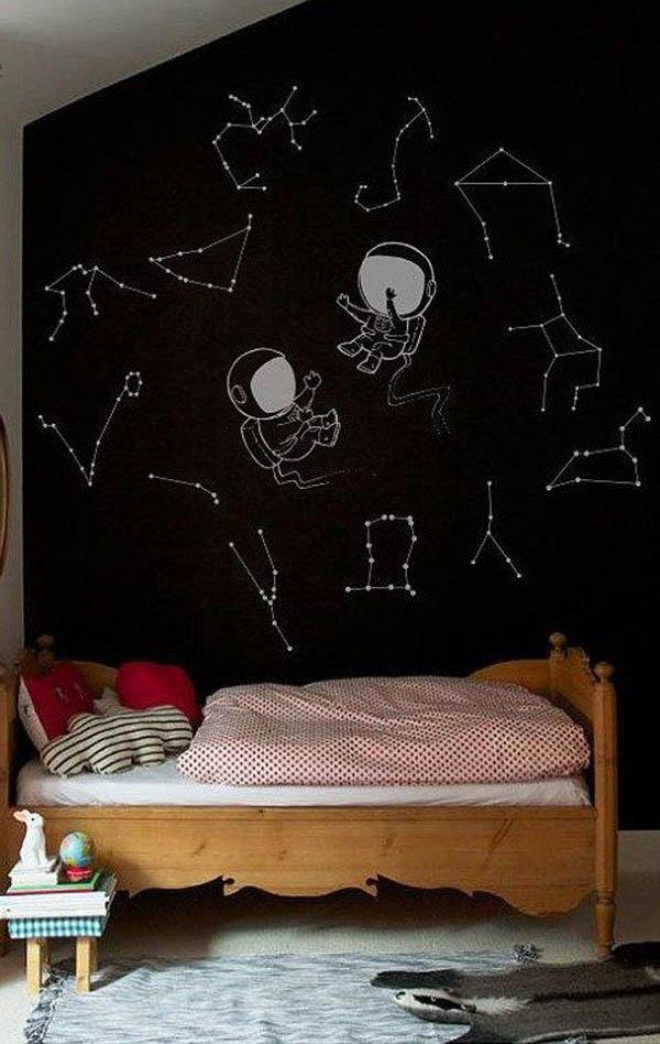 habitacion-infantil-paredes-negras-cielo-estrellado