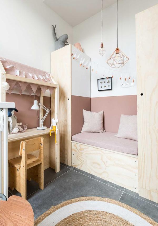 habitacion-infantil-paredes-rosa