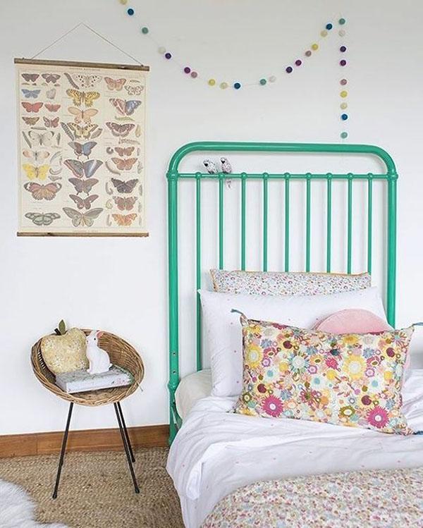 habitacion-infantil-textiles-florales