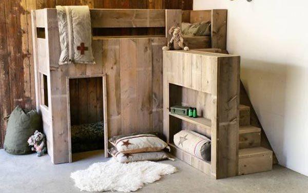 Camas para ni os for Literas de madera para ninos