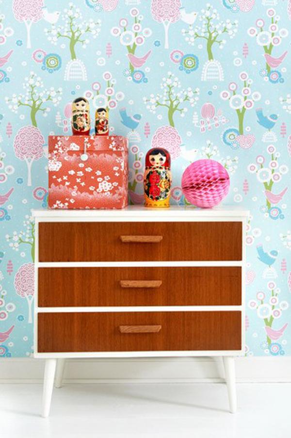 Decorando paredes con los papeles pintados decopeques - Papeles pintados originales ...