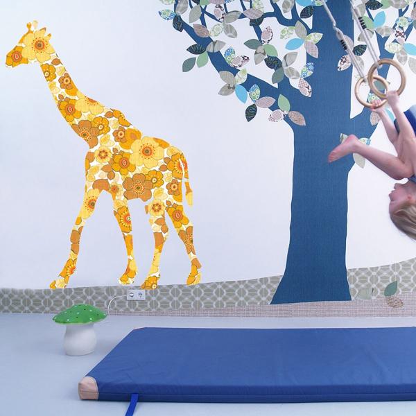 papel-pintado-jirafa