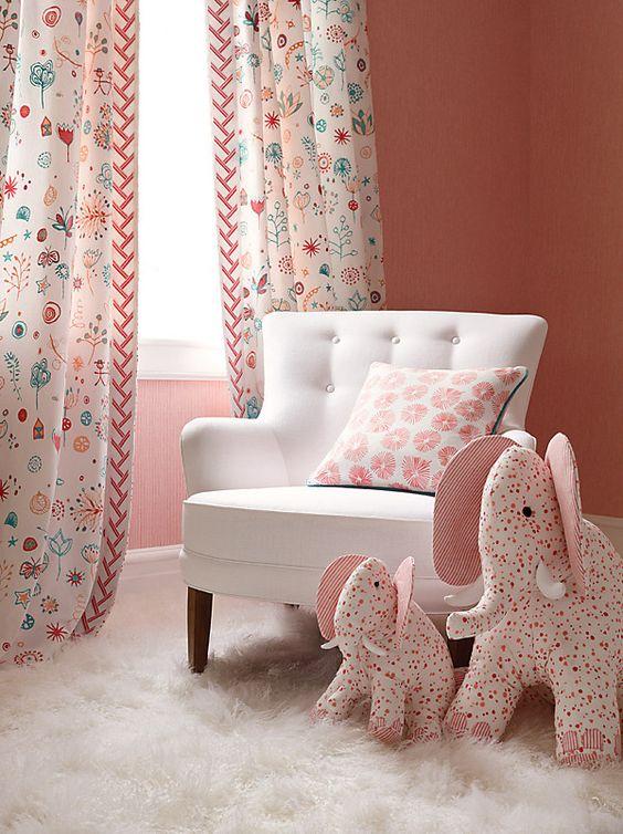 decorar cuartos infantiles con cortinas