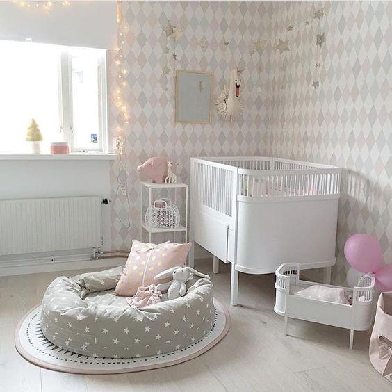 decorar habitacion bebe cuna en blanco - Decoracin Habitacin Bebe