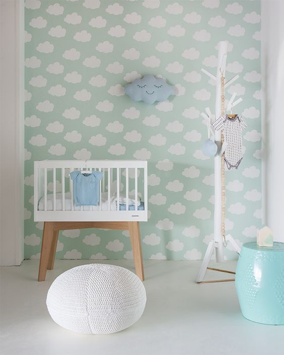 C mo decorar la habitaci n del beb 25 ideas y tendencias con mucho estilo decopeques - Papel pintado habitacion bebe ...