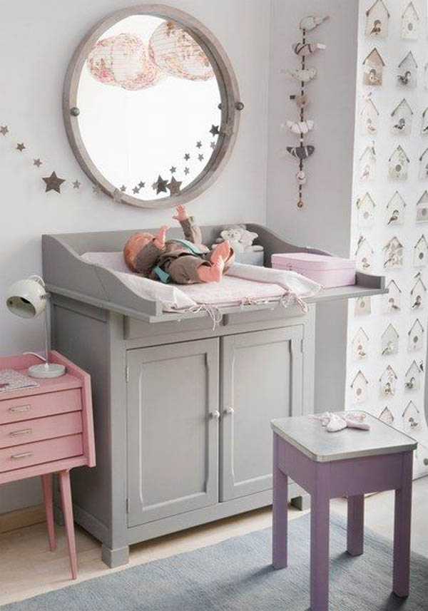 Habitaciones de beb en gris tendencia decopeques for Muebles pintados en gris