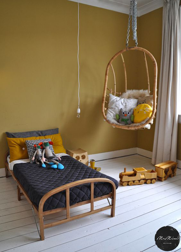Decorando con el tono mostaza de tendencia decopeques - Color paredes habitacion bebe ...