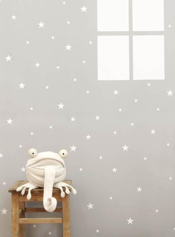 Ideas decorativas con estrellas para el cuarto infantil - Papel para habitaciones infantiles ...