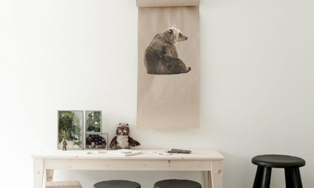 Muebles de Ikea para un cuarto inspirado en el bosque